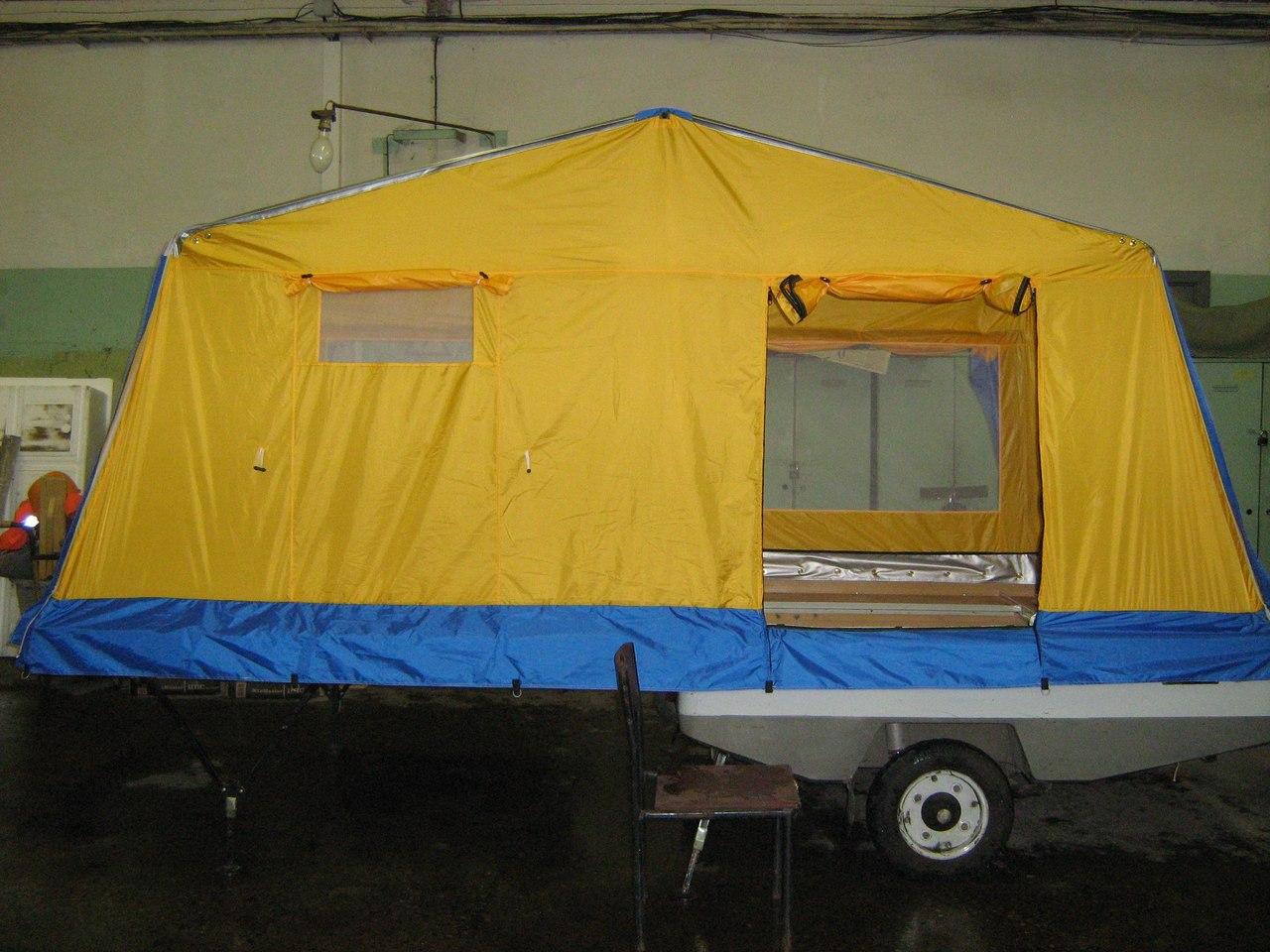Палатка на прицеп своими руками фото